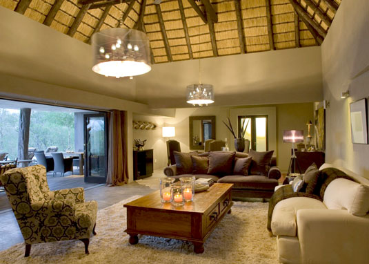 South African Safari Chitwa House Lounge Chitwa Chitwa Game Lodge Sabi Sand Game Reserve Accommodation Booking