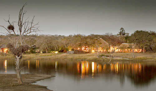 Chitwa Chitwa Main Lodge over looking Dam Chitwa Chitwa Game Lodge Sabi Sand Game Reserve Accommodation Booking