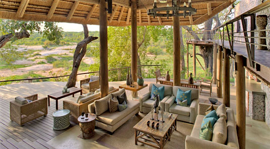 Sabi Sand Leadwood Lodge Deck Lounge Dulini Private Game Reserve Safari Game Lodge Accommodation Bookings