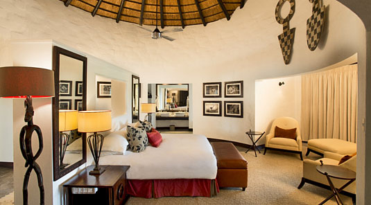 Inside the Luxury Safari Suite at Dulini River Lodge, Dulini Private Game Reserve, Sabi Sand Private Game Reserve
