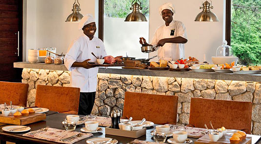 Wonderful staff at Dulini River Lodge in the Sabi Sand Private Game Reserve located in South Africa
