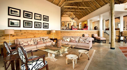 Deck lounge Sabi Sand Luxury African Safari Game Lodge Dulini River Lodge Dulini Private Game Reserve South Africa