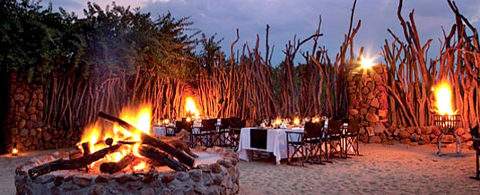 South African Safari Boma Dinners Bush Dining Leopard Hills Private Game Reserve