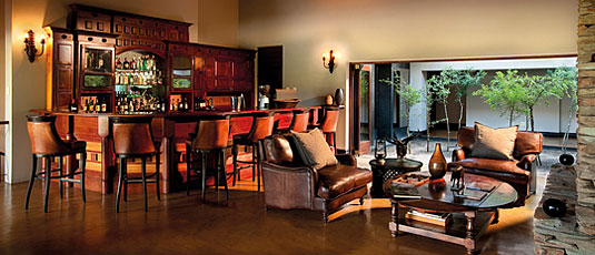 Main Lodge Bar Lounge area Lion Sands Tinga Lodge Sabi Sand Private Game Reserve Accommodation Booking