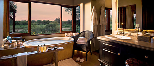 Suite's Bathroom Lion Sands Tinga Lodge Sabi Sand Private Game Reserve Accommodation Booking
