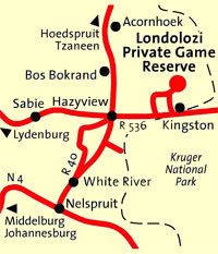 Londolozi Private Game Reserve Map