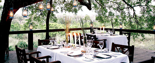 Tree Camp Main Lodge Dining Deck Londolozi Private Game Reserve Sabi Sand Private Game Reserve Accommodation Booking