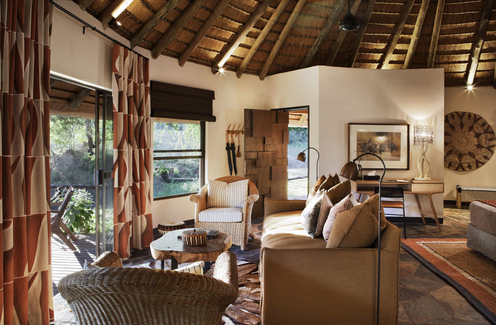 Luxury Thatched Suites Bedroom and sitting Mala Mala Sable Camp Mala Mala Private Game Reserve Sabi Sand Accommodation Booking