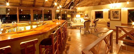 Main lodge Bar Area Nkorho Bush Lodge Sabi Sands Private Game Reserve Kruger National Park Accommodation Booking