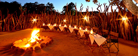 Boma Dining Bush Dinner Nkorho Bush Lodge Sabi Sands Private Game Reserve Kruger National Park Accommodation Booking