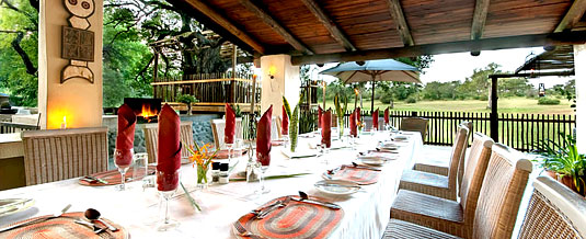 Out-side dining area Nottens Bush Camp Nottens Private Game Reserve Sabi Sands Game Reserve Accommodation bookings