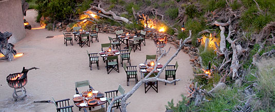Boma Dining Bush Dinner Earth Lodge Luxury Accommodation Sabi Sabi Private Game Reserve Sabi Sands Reserve