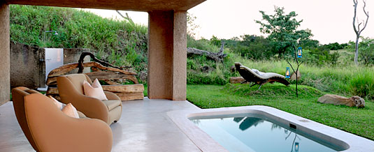 Earth Lodge Standard Suite Private Patio Plunge Pool Earth Lodge Luxury Accommodation Sabi Sabi Private Game Reserve Sabi Sands Reserve