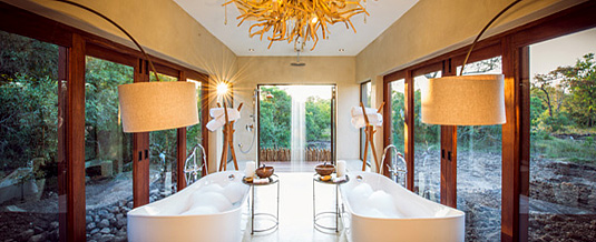 Bush Lodges Luxury Villas his & her baths Family Suites