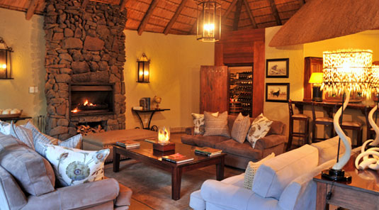 Main Lodge Lounge Fireplace Luxury Accommodation Savanna Private Game Reserve Sabi Sands Reserve Accommodation bookings