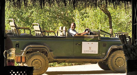 Enjoy daily game drives at Simbambili Game Lodge located in the Big 5 Sabi Sand Private Game Reserve, South Africa