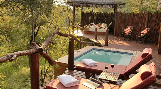 Simbambili Game Lodge Sabi Sands Suite Private Deck plunge pool Luxury Accommodation Sabi Sands Reserve Accommodation bookings