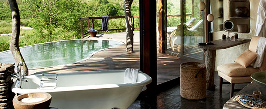 Singita Boulders Lodge,Luxury Suite,Bathroom,deck,Boulders Lodge,Singita Private Game Reserve,Sabi Sand Game Reserve