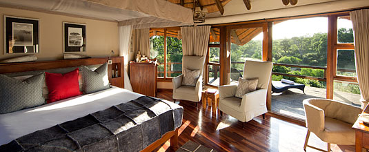 The Elephant Room at Safari Lodge, Ulusaba Private Game Reserve located in the Sabi Sand Private Game Reserve