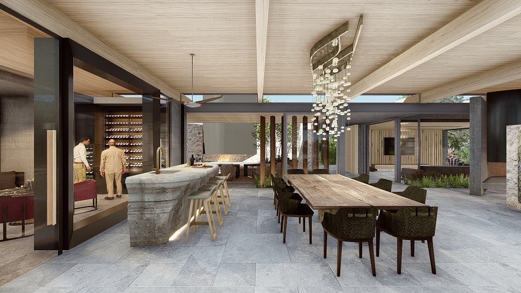 Rendering of Dinning area - Cheetah Plains Private Game Reserve - Sabie and Sand Rivers Ecosystems - Greater Kruger National Park, South Africa